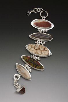 Lanie S. Kodner bracelet, sterling & stone