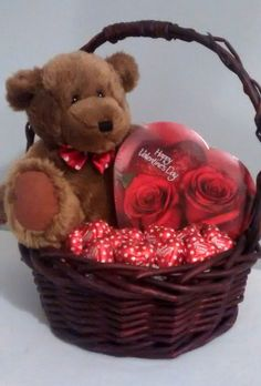 $25 @Ebay  Brown Small Teddy Bear Happy Valentines Day Chocolate Gift Basket  #Handmade Valentines Day Chocolates, Happy Valentines Day, Dry Fruit Basket, Valentine Baskets, Small Teddy Bears, Valentine's Day Gift Baskets, Ebay Sale, Chocolate Gifts, Spring Fever