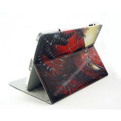 Funda piel tapa divertida diseño spider man para ipad Air 2
