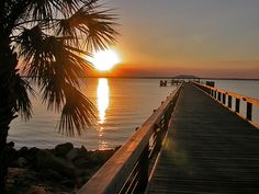 Sunset in Melbourne Beach, FL USA  spent many days on this pier as a kid:)