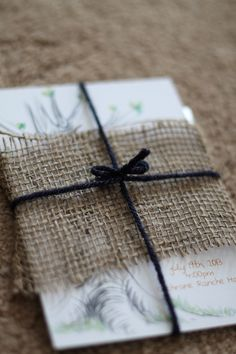wedding invite with burlap Wedding Pictures, Picture Ideas, Wedding Stuff, Burlap, Wedding Invitations, Wedding Inspiration, Gift Wrapping, Bridesmaid, Weddings
