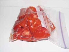 How to Freeze Tomatoes - Easily! With Step-by-step Photos, Recipe, Directions, Ingredients and Costs
