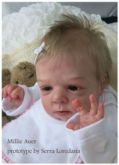 PROTOTYPE MILLIE by Olga Auer Reborn Doll Baby Girl by The Little Prince's House