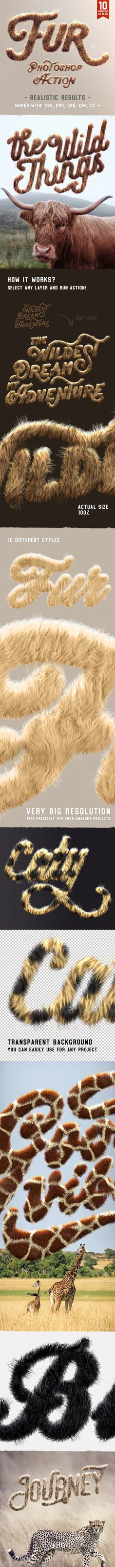 Buy Realistic Fur Photoshop Actions by HyperPix on GraphicRiver. Fur Photoshop Action It's furry. Online Graphic Design, Graphic Design Tutorials, Design Templates, Photoshop Brushes, Photoshop Actions, Adobe Photoshop, Photoshop Illustrator, Photoshop Tutorial, Media Design