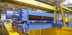 Double girder gantry crane with end carridge 40/16 t for Flowserve