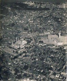 Zeplinden çekilen bir İstanbul fotoğrafı