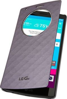 LG Wireless Charging Quick Circle Folio Case for G4 - Violet Black