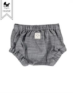Billie Blooms Organic Bloomers In Charcoal from Noble Carriage