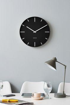 Mooie minimalistisch en moderne designklok #wall #clock