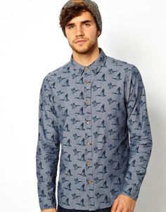 New Look Shirt With All Over Duck Print