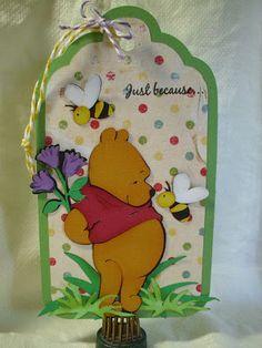 shellys card blog cricut Winnie the pooh