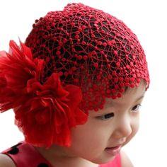 Cute Baby Lace Headband Ribbon Double Flower