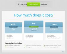 Pricing table example: fruux