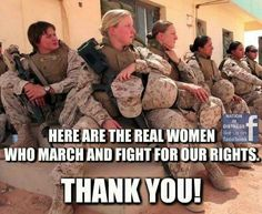 THANK YOU to these women & ALL our service men & women!!