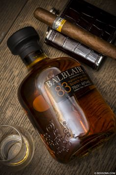 A Cohiba cigar paired with Balblair Highland Single Malt Scotch Whisky, distilled in Edderton, Ross-shire, Scotland since Good Cigars, Cigars And Whiskey, Pipes And Cigars, Cuban Cigars, Bourbon Whiskey, Whiskey Bottle, Scotch Whisky, Alcohol, Cigar Bar