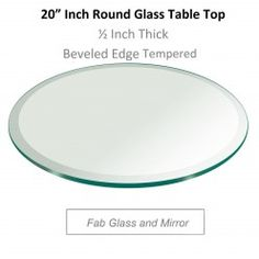 Glossy Round Glass Table Tops Will Enhance The Radiance Of Your Interiors!