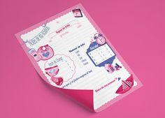 Cahier de correspondance avec la nounou | Portfolio Véronique-M directrice artistique, illustratrice, UI designer