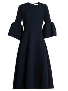 ROKSANDA Turin Flounce-Sleeved Crepe Dress. #roksanda #cloth #dress