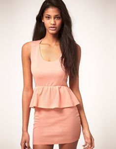 Oh My Love Jersey Peplum Dress