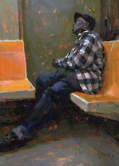 Subway Siesta by Jennifer McChristian Oil ~ 19 x 14.5