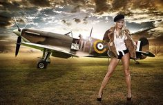 Supermarine Spitfire can't see it This is an advertisement to sell Spitfires, does the girl come with it.