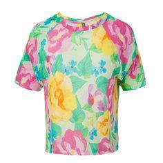 T-shirt cropped Farm flora luz