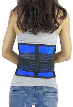 Lower-Back-Support-Belt-Brace-Pull-Lumbar-Exercise-Double-Posture-Pain-Adjust