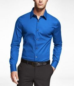 Blue Extra Slim Fit French Cuff Shirt
