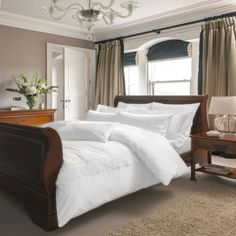 NEW | Luxury bedding from Dorma - Staunton bedding in White, with a subtle lace detail. Available now at www.victorialinen.co.uk