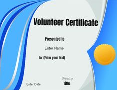Certificate Of Appreciation Volunteer Work  Conie