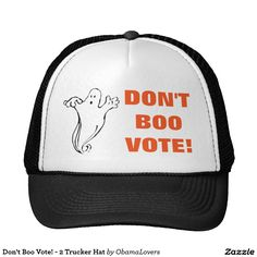 18de821316b 2 Trucker Hat Halloween is right before election time