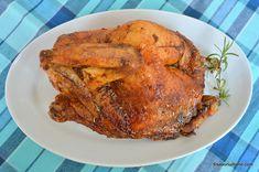 Pui pe sare la cuptor - rețeta simplă de pui fript pe pat de sare | Savori Urbane Turkey Recipes, Carne, Pork, Meat, Chicken, Martha Stewart, Kale Stir Fry, Pork Chops, Cubs