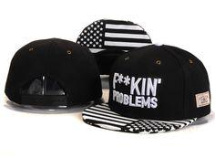 2014 Hot FUCKING' problems Snapback Caps with American Flag hats for men- women snap backs baseball fashion hip hop white black $9.99