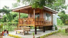 Bamboo House Bali, Bamboo House Design, Wooden House Design, Tropical House Design, Small Wooden House, Simple House Design, Modern Tiny House, Tiny House Cabin, Tiny House Design