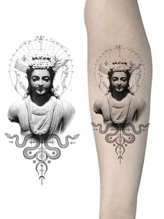 Buddha Tattoo Design, Buddha Tattoos, Mini Tattoos, Body Art Tattoos, Venus Tattoo, Loteria Cards, Single Needle Tattoo, Custom Tattoo, Back Tattoo