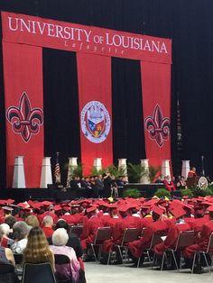 Graduation Ceremony at the CAJUNDOME Convention Center Arena in Lafayette, LA