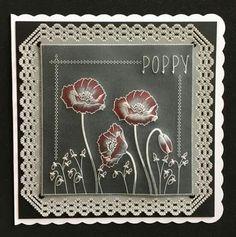 Susan Moran design on black parchment paper!