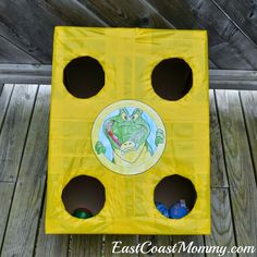 Jake and the Neverland Pirates Party Games & Activities - I love this simple DIY bean bag toss.