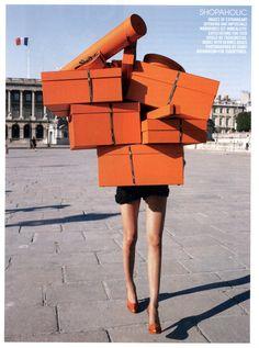 Hermès orange boxes