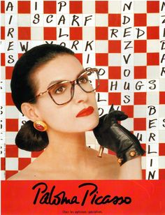 ▬► PUBLICITE ADVERTISING AD PALOMA PICASSO Lunettes Eyewear 1992 | Collectibles, Breweriana, Beer, Other Breweriana | eBay!