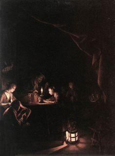 Dou Gerrit (1613-1675) Вечерняя школа  1623-1625 Rijksmuseum (Амстердам, Нидерланды)
