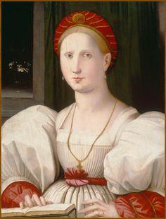 Portrait of a Woman.Paolo Zacchia il Vecchio (the elder)(1519-1561).Musée des Beaux-Arts, Lille, France.