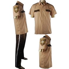 The Walking Dead Rick Grimes cosplay costume Sheriff uniform popular halloween costume christmas xmas gift hot TV costumes