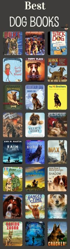 best dog chapter books - these will be motivating for dog lovers!