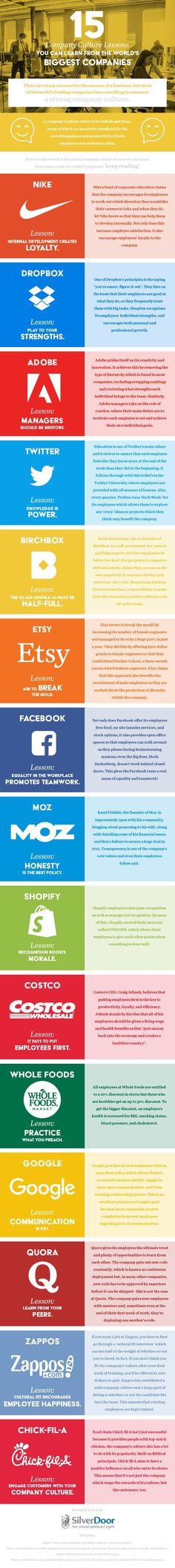 15 Company Culture Lessons You Can Learn From The World's Biggest Companies #Infographic #Business
