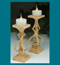Scroll Saw Patterns :: Miscellaneous :: Compound cut - 3D :: Tea light candle holders -