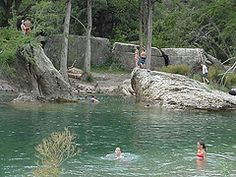 The Frio River near Neal's Lodges
