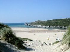 The amazing Crantock beach in Cornwall with the sand dunes and estuary - great place. Great Places, Places To See, Crantock Beach, British Beaches, Uk Beaches, Cheap Beach Vacations, Cornish Beaches, Cornwall Beaches, Devon And Cornwall