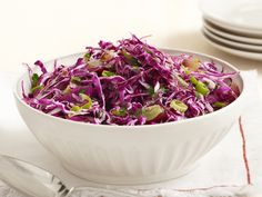 Change things up a little and try this Red Coleslaw with Grapes recipe from #FNMag.