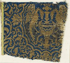 Textile with Birds Date: 14th century Culture: Spanish Medium: Silk, metal thread Accession Number: 09.50.1029